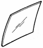 DIY Rear Door Glass Driver Side Mercury Tracer 1988-1990