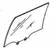 DIY Rear Door Glass Driver Side Nissan Stanza Station Wagon 1985-1989