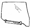 DIY Rear Door Glass Passenger Side BMW 735 4 Door Sedan 1985-1987