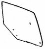 DIY Rear Door Glass Passenger Side Buick Regal 4 Door Sedan 1973-1977