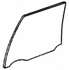 DIY Rear Door Glass Passenger Side Cadillac Fleetwood  Sedan 1987 1988