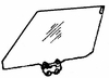 DIY Rear Door Glass Passenger Side Cadillac Fleetwood (RWD) Door Sedan 1985 - 1992
