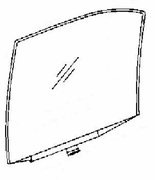 DIY Rear Door Glass Passenger Side Chevrolet Brookwood S/Wagon 69-70