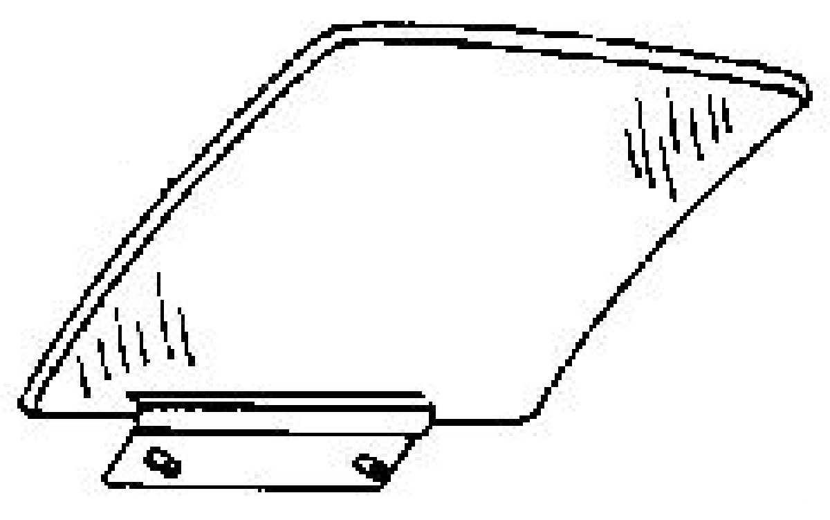 rear door glass passenger side buick lesabre 4 door sedan