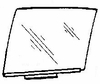 DIY Rear Door Glass Passenger Mercedes Benz 300SD Sedan 1981-1989