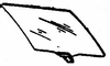 DIY Rear Door Glass Passenger Side Nissan Stanza Hatchback 1982-1985