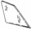 DIY Rear Quarter Glass Driver Side Mercury Cougar Hardtop 1977-1979