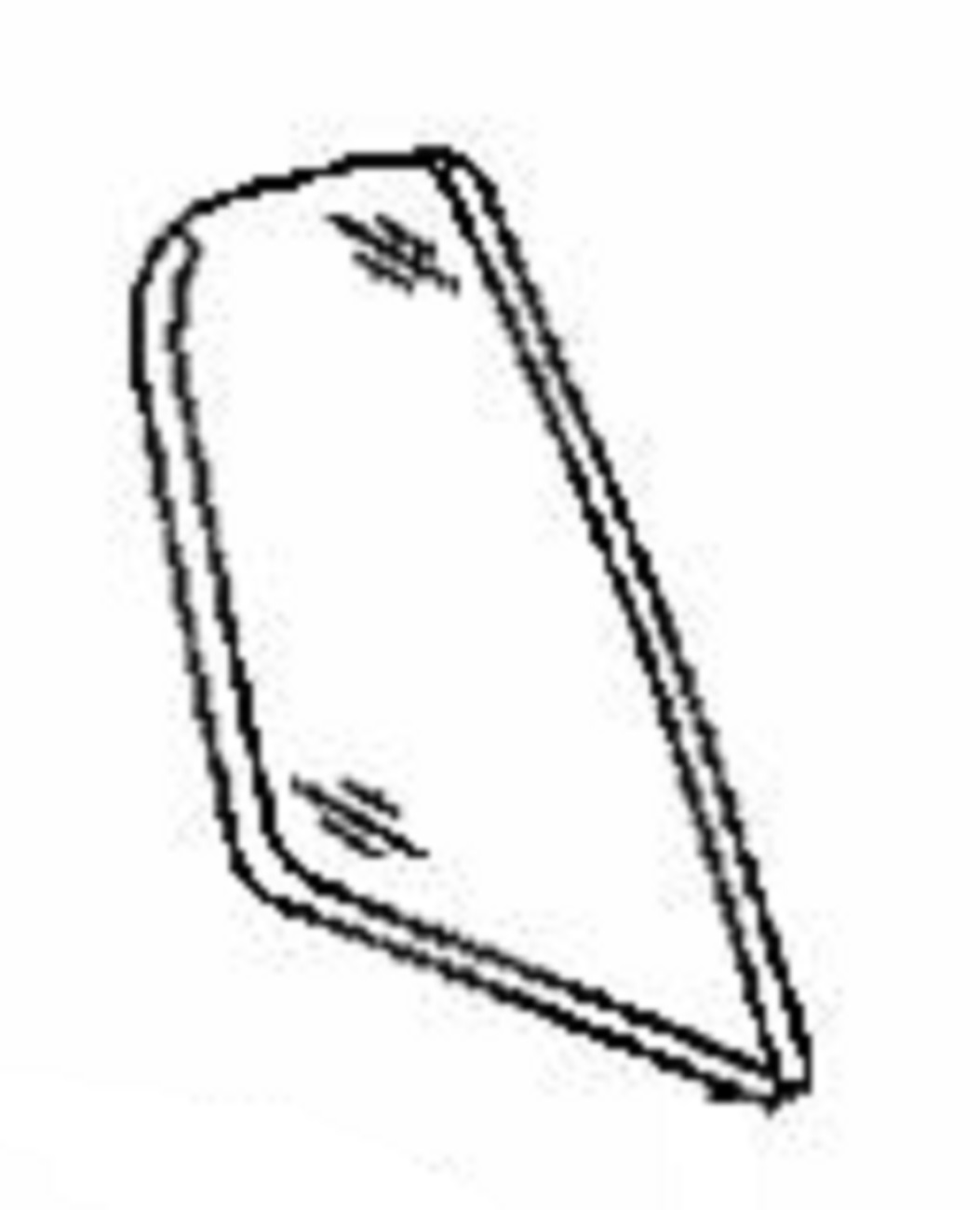 Rear Vent Glass Passenger Side Acura TL 4 Door Sedan 2004-2008
