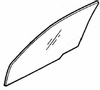 DIY Front Door Glass Driver Side Mazda 929 4 Door Sedan 1988-1991