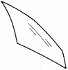 DIY Front Door Glass Passenger Side Geo Metro Hatchback 1989-1994