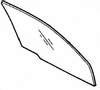 DIY Front Door Glass Passenger Side Mazda 929 4 Door Sedan 1988-1991