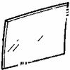 DIY Front Vent Glass Driver Side Plymouth Fury 4 Door Sedan 1960-1961
