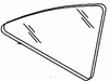 DIY Quarter Glass Passenger Side Chrysler E Class Sedan 1983 1984
