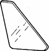 DIY Quarter Rear Door Glass Driver Side Mitsubishi Precis 1987-1989