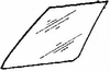 DIY Rear Door Glass Driver Side Mazda GLC 4 Door Hatchback 1981-1982