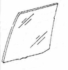DIY Rear Door Glass Driver Side Plymouth Colt Sedan 1985-1988