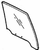 DIY Rear Door Glass Passenger Side Mazda 929 4 Door Sedan 1988-1991