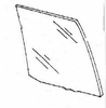 DIY Rear Door Glass Passenger Side Plymouth Colt Sedan 1985-1988
