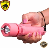 "Guard Dog ""INFERNO"" 6MV Rechargeable Stun Gun Flashlight (Pink)"
