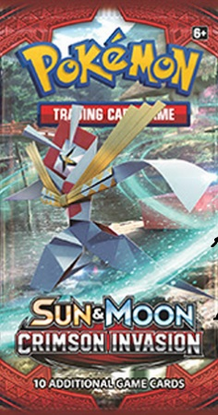 POKEMON SM04 S&M CRIMSON INVASION ONLINE BOOSTER PACK CODE - Delivered Super Fast By Email - Redeem this code for ONE POKEMON S & M BURNING SHADOWS EXPANSION SET ONLINE POKEMON VIRTUAL PACK OF 10 POKEMON CARDS