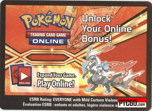 BW63 WHITE KYUREM EX POKEMON ONLINE PROMO CARD CODE - White Kyurem EX Promo Card BW63 and a Meloetta Promo Card for your Pokemon Online Account - Delivered by Email - IN STOCK NOW