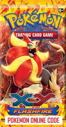 POKEMON XY02 X&Y FLASHFIRE SET ONLINE BOOSTER PACK CODE - Delivered Super Fast By Email - Redeem this code for ONE POKEMON X & Y FIREFLASH EXPANSION SET ONLINE POKEMON VIRTUAL PACK OF 10 POKEMON CARDS
