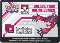 XY YVELTAL LEAGUE POKEMON ONLINE CODE SEASON 5 - Code unlocks (2) Zekrom (1) Zekrom EX (1) Escape Rope and (4) Psychic Energy