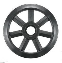 """8"""" Composite Rear Idler Wheel with 25mm Bearing"""