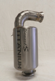Diamond S Titanium Quiet Exhaust Silencer for Ski-doo XS/ XM CHASSIS