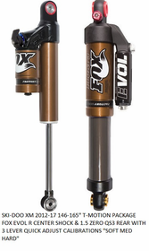 "Fox Rear Shock Package for Ski-doo Summit SP, XP, XM, REV GEN4 T-Motion 146""-163"" 2012-2017"