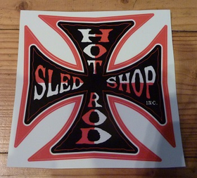 Hot Rod Sled Shop Inc. Decal - Red 3""