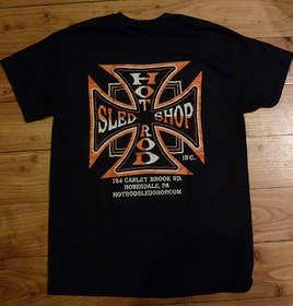 Hot Rod SLed SHop Inc. Short Sleeve T's - Orange/Black