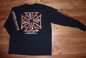 Hot Rod Sled Shop Inc. Long Sleeve T's Orange/Black