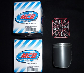 MCB Dual Ring Piston Kit for Ski-doo 600 HO 2003-2007