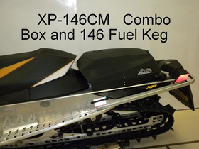 "Powderkeg LLC Ski-doo Storage Box & Fuel Caddy Combo For 146"" + XP, XS, & XM"