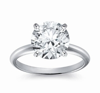 14kt Classic Solitaire Style Ring With 3.50 Carat G-SI3 Round Diamond