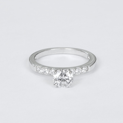 14kt Classic Style Ring With 1.55Ctw  G  SI1 Round Diamond