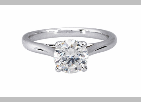 14kt Classic Style Solitaire Ring With 2.23 Carat G- SI1 Round Diamond