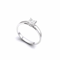 14kt Gold Classic Solitaire Style Ring With 1.50Ct G-SI2 Princess Diamond