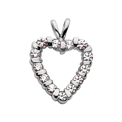 2.00 CTW Diamond Heart Pendant