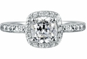 Cushion Solitaire Rings