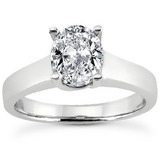 Oval Cut Solitaire Rings