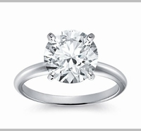 14kt Classic Style Solitaire Ring With 2.70 Carat G- SI-2 Round Diamond