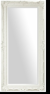 Baroque Floor Mirror – Mirror Style #901 – 24x60 – High Gloss White