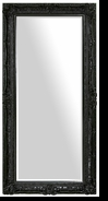 Baroque Floor Mirror – Mirror Style #902 – 24x60 – High Gloss Black