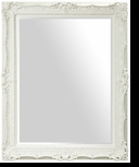 Baroque Mirror – Mirror Style #901 – 30x40 – High Gloss White