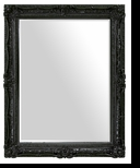 Baroque Mirror – Mirror Style #902 – 30x40 – High Gloss Black