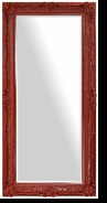 Baroque Ornate Full Length Mirror – Mirror Style #903 – 24x60 – High Gloss Red