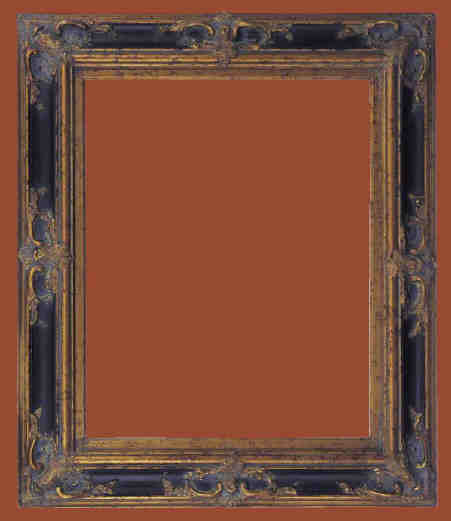 Picture Frames 24 X 48 Ornate Black Gold Picture Frames