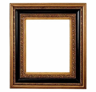 Picture Frames 40x40 Ornate Black Gold Picture Frame Frame